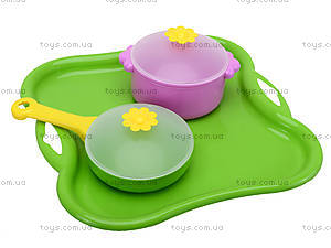 Столовый набор посуды «Ромашка», 39148, детские игрушки