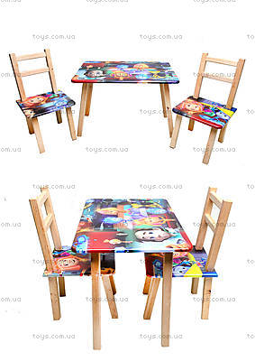Детский столик со стульчиками «Фиксики», С031
