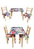 Детский столик со стульчиками «Фиксики», С031, игрушки