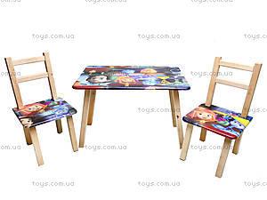 Детский столик со стульчиками «Фиксики», С031, отзывы