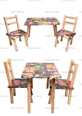Столик со стульями «Маша и Медведь», С035