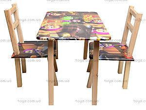 Столик со стульями «Маша и Медведь», С035, купить