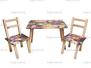 Столик со стульями «Маша и Медведь», С035, фото