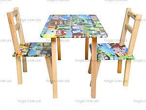 Детский столик со стульями «Робомашинки», С027, купить