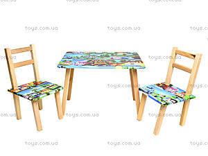 Детский столик со стульями «Робомашинки», С027, цена