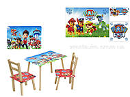 Столик и два стула «Щенячий Патруль», С079, фото
