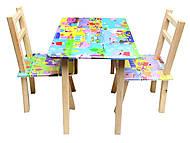 Детский столик со стульями «Свинка Пеппа», С029