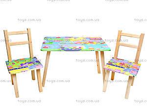 Детский столик со стульями «Свинка Пеппа», С029, фото