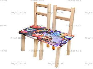 Детский стол со стульями «Тачки», С034, купить