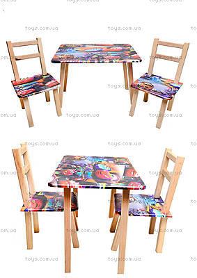 Детский стол со стульями «Тачки», С034