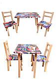 Детский стол со стульями «Тачки», С034, фото