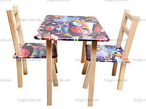 Детский стол со стульями «Тачки», С034, отзывы