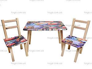 Детский стол со стульями «Тачки», С034, цена