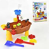 """Столик для песка и воды """"Пиратский корабль"""", с аксессуарами, HG668"""
