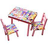 Столик - пенал розовый, С058, детские игрушки