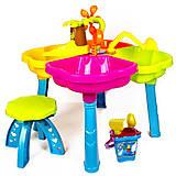 Столик песочный с лодочкой, стульчиком и пасками, 01-122, фото