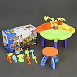 Столик, стульчик и аксессуары для песочницы, 9808-1, фото