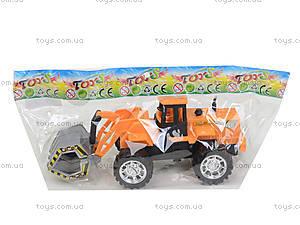 Детская машинка-стройка инерционная, 358-1, детские игрушки