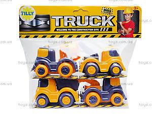 Набор инерционных машинок «Стройка», P7888, игрушки