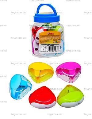 Точилка «Разноцветная с белым», 12 штук, 52611-TK