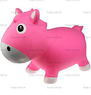 Прыгун для детей «Лошадка Гарри», розово-белый, KFPO130204