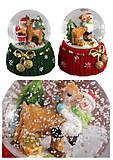 """Сувенир керамика """"Шар снежный - Снеговик, Дед Мороз"""" 2 вида, LK-S-164, отзывы"""