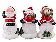 """Сувенир керамика светящийся LED """"На снежном шаре"""" 3 вида, XS-35056, тойс"""