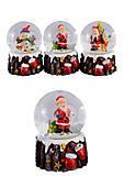 """Шар снежный """"Варежка с Дедом Морозом, снеговиком"""", 4 вида (2шт в упаковке), 1903, детские игрушки"""