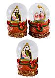 """Шар снежный """"Вертеп-Рождество"""", 4 вида (2шт в упаковке), 2010, магазин игрушек"""