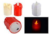 Свеча декоративная пластиковая, белая, 8188DSCN, отзывы