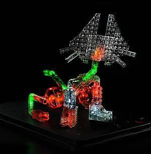 Светящийся конструктор «3D панель Дракон», 1070b, фото