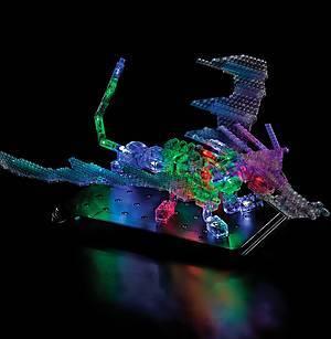 Светящийся конструктор «3D панель Дракон», 1070b, игрушки