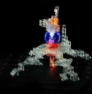 Светящийся конструктор «3D панель Дракон», 1070b, іграшки