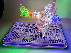 Светящийся конструктор «3D панель Дракон», 1070b, детский