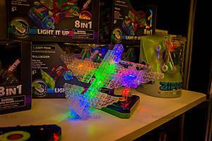 Светящийся конструктор 6 в 1 «Самолёт», 140b, магазин игрушек