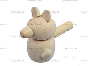Свистулька деревянная «Мишка», 171903, детские игрушки