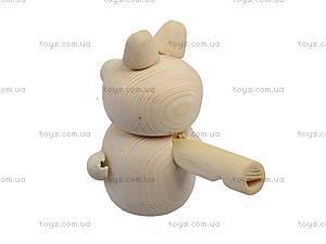 Свистулька деревянная «Мишка», 171903, магазин игрушек