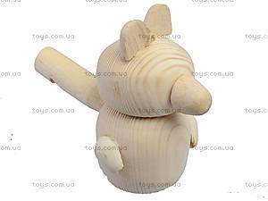 Свистулька деревянная «Мишка», 171903, toys.com.ua