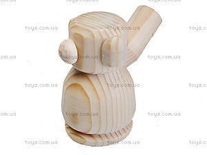 Свистулька деревянная «Мишка», 171903, игрушки