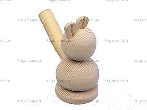Свистулька деревянная «Заяц», 172028, фото