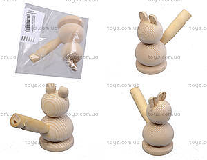 Свистулька деревянная «Заяц», 172028