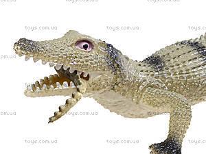 Игрушечный силиконовый крокодил, 33 см, A022P, купить