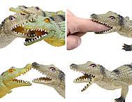 Игрушечный силиконовый крокодил, 33 см, A022P, фото