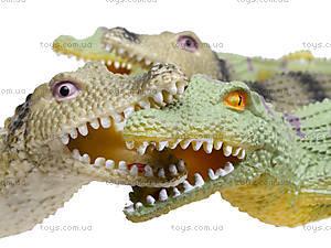 Игрушечный силиконовый крокодил, 33 см, A022P, цена