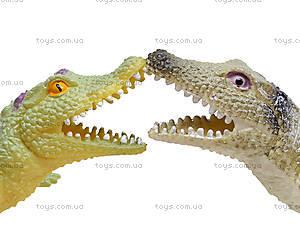 Игрушечный силиконовый крокодил, 33 см, A022P, игрушки