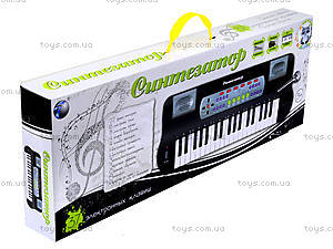 Синтезатор с микрофоном для детей, белый, HS3710B, цена