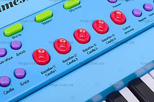 Синтезатор детский с микрофоном «Соло», HS3716B, toys.com.ua