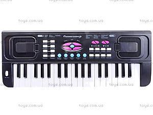Игровой синтезатор с микрофоном для детей, HS3716A, фото