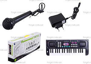 Игровой синтезатор с микрофоном для детей, HS3716A
