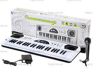 Синтезатор с микрофоном, для детей, HS4916B